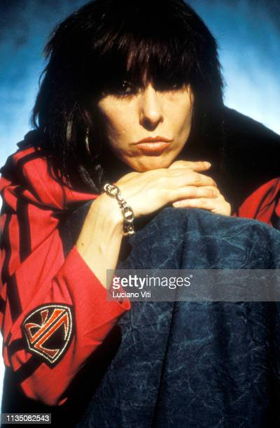 Chrissie Hynde singersongwriter leader of rocknew wave band The Pretenders Rome Italy circa 1989