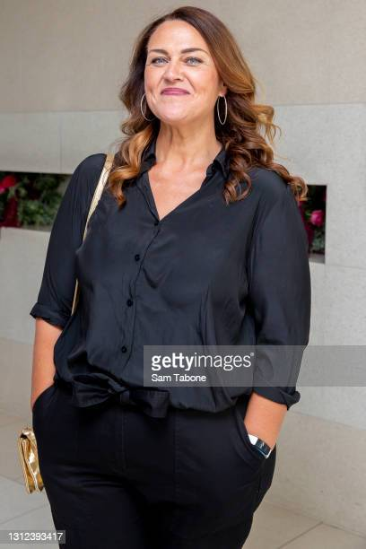 Chrissy Swan attends the cast announcement for The Real Housewives of Melbourne season 5 on April 14, 2021 in Melbourne, Australia.