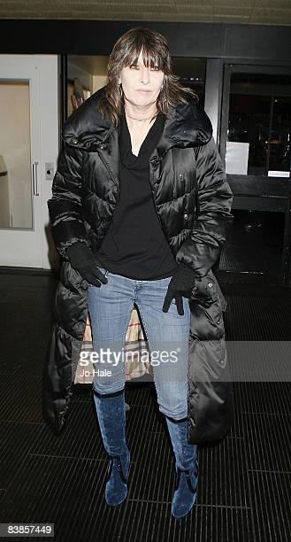 Chrissy Hinde arrives at the UK premiere of Ano Una at Curzon Renoir Cinema on November 29 2008 in London England