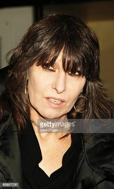 Chrissy Hynde arrives at the UK premiere of Ano Una at Curzon Renoir Cinema on November 29 2008 in London England