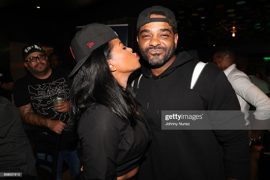 Chrissy Lampkin and Jim Jones arrive at the 2017 BET Hip Hop Awards on October 6, 2017 in Miami Beach, Florida.