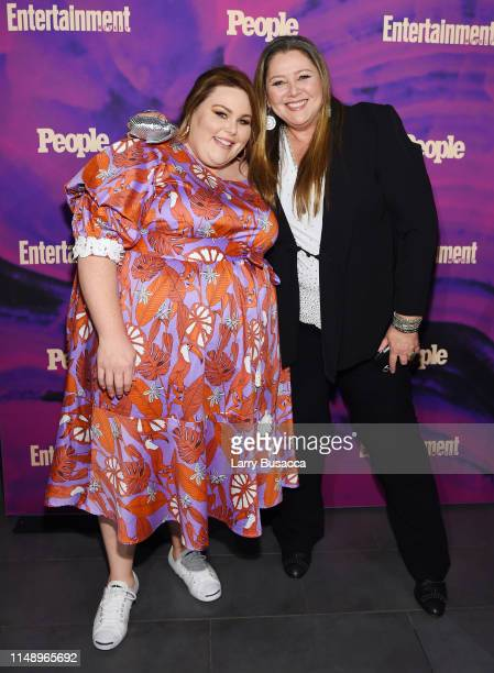 Chrissy Metz and Camryn Manheim attend the Entertainment Weekly PEOPLE New York Upfronts Party on May 13 2019 in New York City