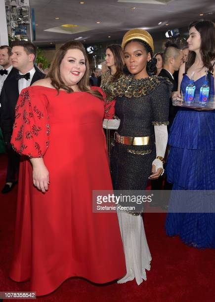 Chrissy Metz and Janelle Monáe attend FIJI Water at the 76th Annual Golden Globe Awards on January 6 2019 at the Beverly Hilton in Los Angeles...