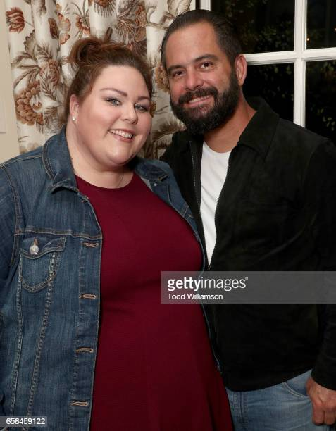 Chrissy Metz and Josh Stancil attend a party for the 20th Anniversary of the Savannah Film Festival hosted by CAA Agent Tracy Brennan and presented...