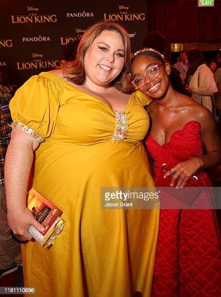 Chrissy Metz and Marsai Martin attend the World Premiere of Disney's THE LION KING at the Dolby Theatre on July 09 2019 in Hollywood California