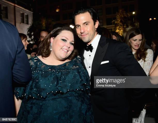 Chrissy Metz and Milo Ventimiglia attend FOX Broadcasting Company Twentieth Century Fox Television FX And National Geographic 69th Primetime Emmy...