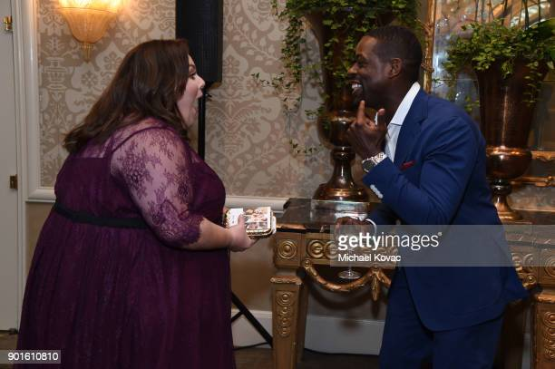 Chrissy Metz and Sterling K Brown attend the 18th Annual AFI Awards at Four Seasons Hotel Los Angeles at Beverly Hills on January 5 2018 in Los...