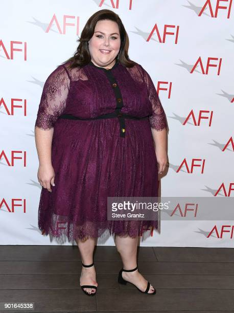 Chrissy Metz arrives at the 18th Annual AFI Awards on January 5 2018 in Los Angeles California
