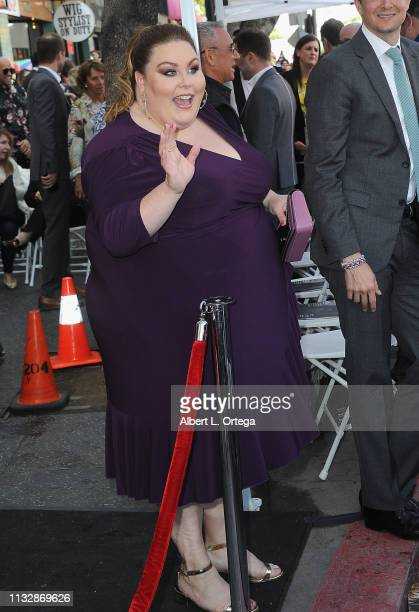 Chrissy Metz attends Mandy Moore Star Ceremony on the Hollywood Walk of Fame on March 25 2019 in Hollywood California