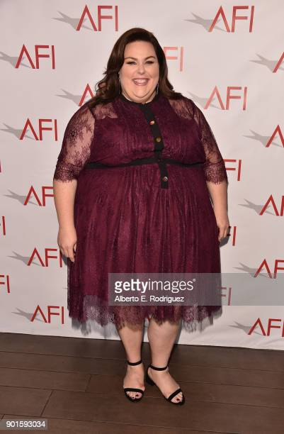 Chrissy Metz attends the 18th Annual AFI Awards at Four Seasons Hotel Los Angeles at Beverly Hills on January 5 2018 in Los Angeles California