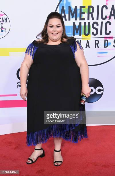 Chrissy Metz attends the 2017 American Music Awards at Microsoft Theater on November 19 2017 in Los Angeles California