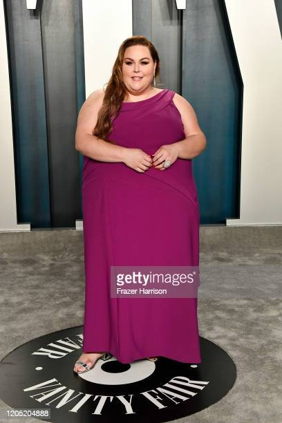 Chrissy Metz attends the 2020 Vanity Fair Oscar Party hosted by Radhika Jones at Wallis Annenberg Center for the Performing Arts on February 09 2020...