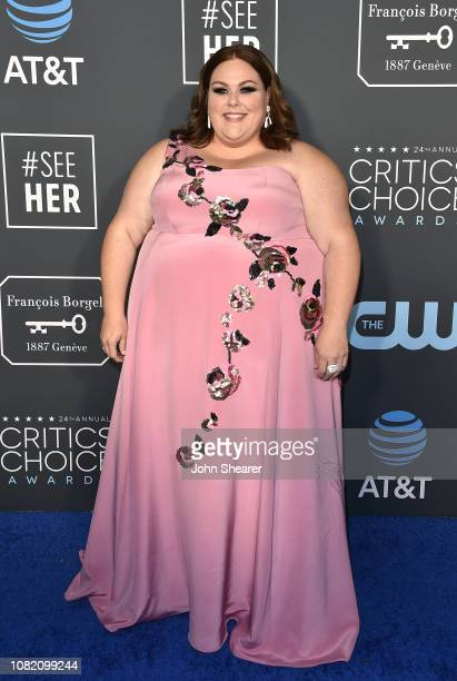 Chrissy Metz attends the 24th Annual Critics' Choice Awards at Barker Hangar on January 13 2019 in Santa Monica California