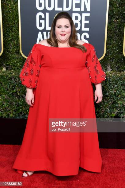 Chrissy Metz attends the 76th Annual Golden Globe Awards at The Beverly Hilton Hotel on January 6 2019 in Beverly Hills California