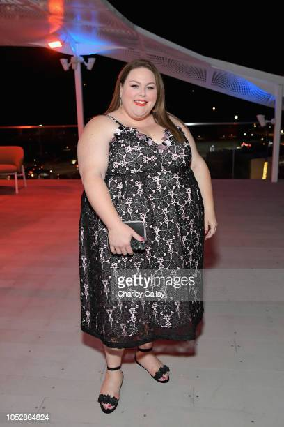 Chrissy Metz attends the InStyle and Kate Spade dinner at Spring Place on October 23 2018 in Los Angeles California