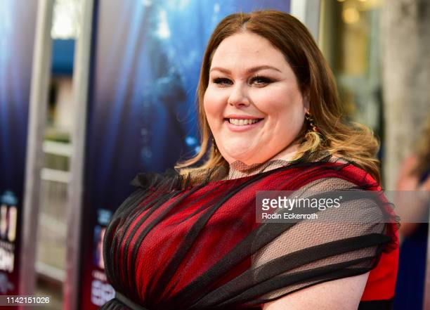 Chrissy Metz attends the premiere of 20th Century Fox's Breakthrough at Westwood Regency Theater on April 11 2019 in Los Angeles California