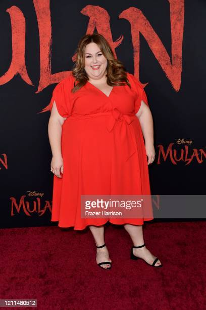 Chrissy Metz attends the premiere of Disney's Mulan at Dolby Theatre on March 09 2020 in Hollywood California