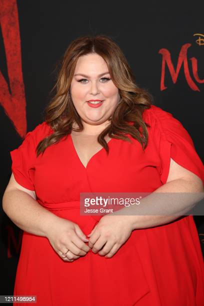 Chrissy Metz attends the World Premiere of Disney's 'MULAN' at the Dolby Theatre on March 09 2020 in Hollywood California