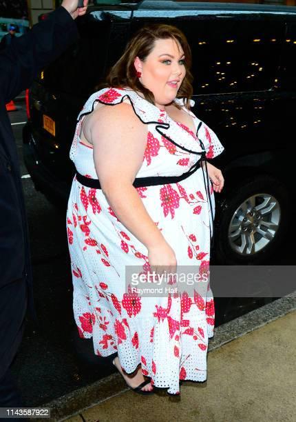Chrissy Metz is seen in Midtown on May 13 2019 in New York City