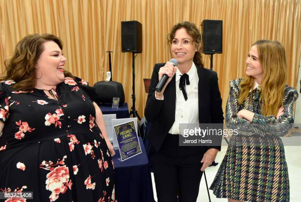 Chrissy Metz Minnie Driver and Zoey Deutch attend the Dress For Success WorldwideWest Seventh Annual Shop For Success Vip Event In Los Angeles on...