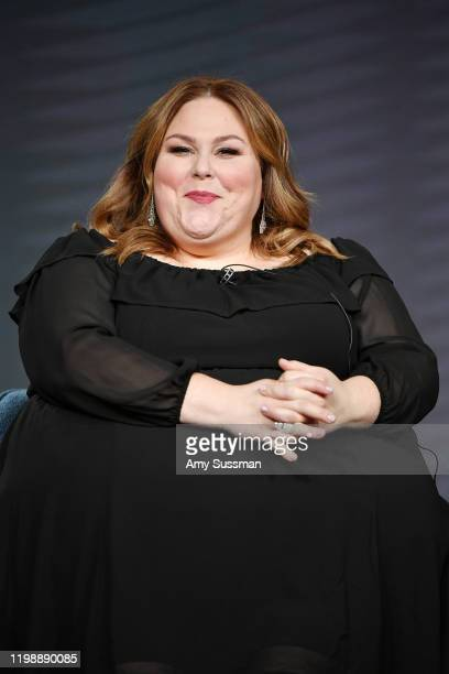 Chrissy Metz of This Is Us speak during the NBCUniversal segment of the 2020 Winter TCA Press Tour at The Langham Huntington Pasadena on January 11...