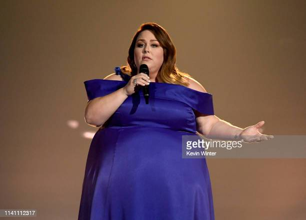 Chrissy Metz performs onstage during the 54th Academy Of Country Music Awards at MGM Grand Garden Arena on April 07 2019 in Las Vegas Nevada