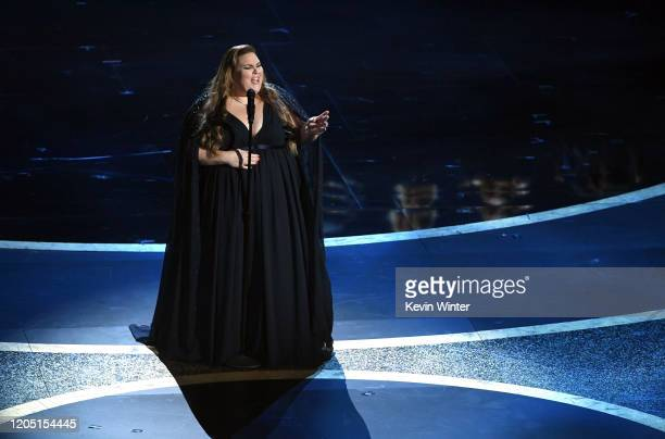 Chrissy Metz performs onstage during the 92nd Annual Academy Awards at Dolby Theatre on February 09 2020 in Hollywood California