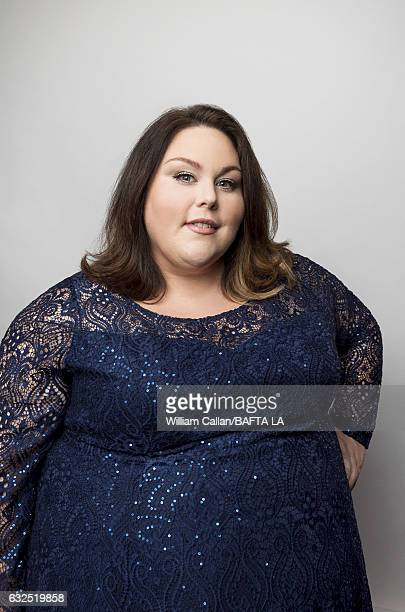 Chrissy Metz poses for a portraits at the BAFTA Tea Party at Four Seasons Hotel Los Angeles at Beverly Hills on January 7 2017 in Los Angeles...