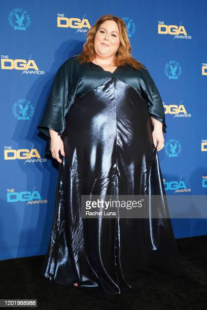 Chrissy Metz poses in the press room during the 72nd Annual Directors Guild Of America Awards at The Ritz Carlton on January 25 2020 in Los Angeles...