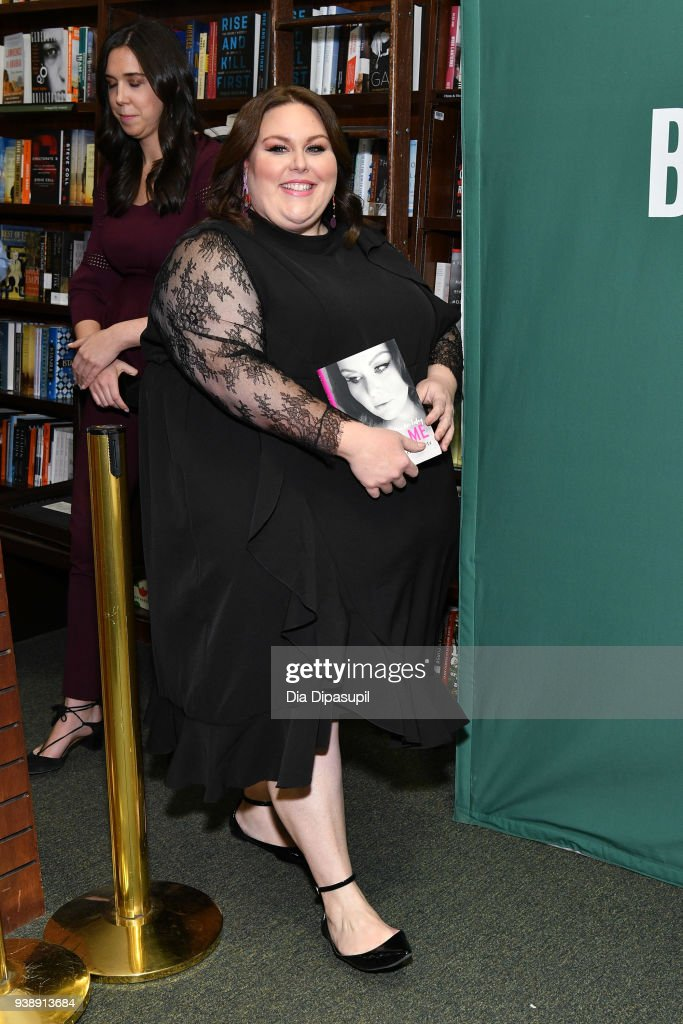 Chrissy Metz promotes her book 'This is Me' at Barnes & Noble Union Square on March 27, 2018 in New York City.