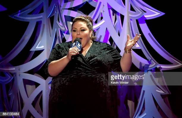 Chrissy Metz speaks onstage during 1027 KIIS FM's Jingle Ball 2017 presented by Capital One at The Forum on December 1 2017 in Inglewood California
