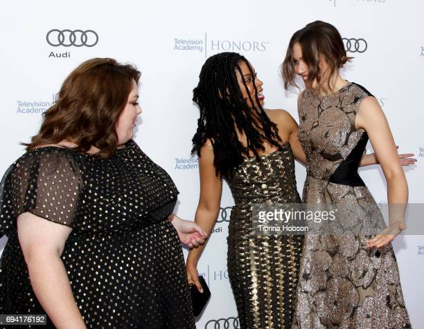 Chrissy Metz Susan Kelechi Watson and Mandy Moore attend the 10th Annual Television Academy Honors at Montage Beverly Hills on June 8 2017 in Beverly...
