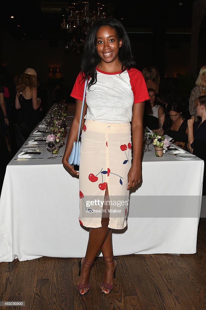 Chrissy Rutherford attends the Roland Mouret for Banana Republic Collection Launch on August 5, 2014 at White Street Restaurant in New York City.