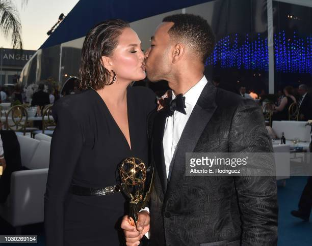 Chrissy Teigan and John Legend attend the 2018 Creative Arts Ball at on September 9 2018 in Los Angeles California