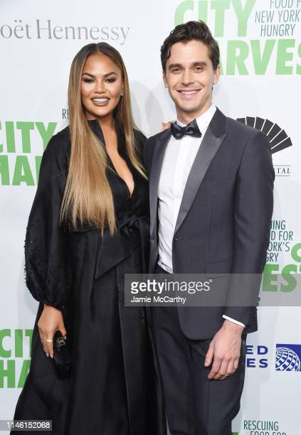 Chrissy Teigen and Antoni Porowski attends City Harvest The 2019 Gala on April 30 2019 at Cipriani 42nd Street in New York City