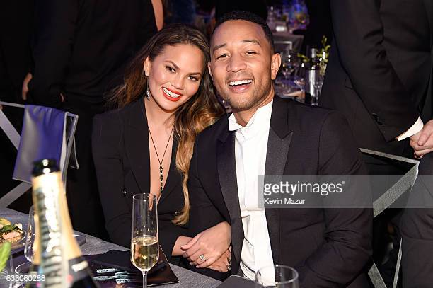 Chrissy Teigen and artist John Legend during The 23rd Annual Screen Actors Guild Awards at The Shrine Auditorium on January 29 2017 in Los Angeles...