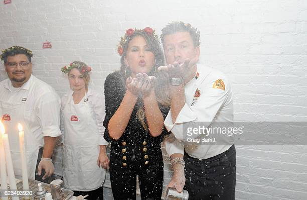 Chrissy Teigen and Belgian Chef Bart Vandaele join Stella Artois to toast to a season of extraordinary hosting at the 'King's Feast' on November 15...