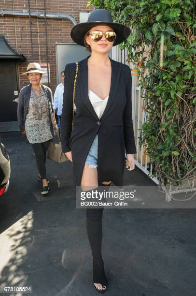 Chrissy Teigen and her mother Vilailuck Teigen are seen on May 03 2017 in Los Angeles California