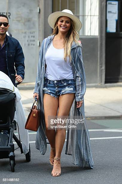 Chrissy Teigen and John Legend are seen on May 14 2016 in New York City