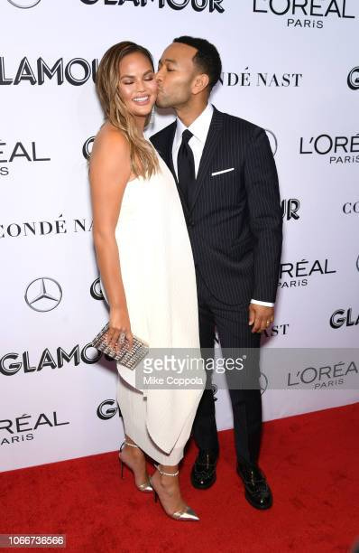 Chrissy Teigen and John Legend attend Glamour Women of the Year Awards 2018 at Spring Studios on November 12 2018 in New York City