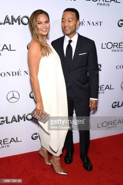 Chrissy Teigen and John Legend attend Glamour Women of the Year Awards 2018 at Spring Studios on November 12, 2018 in New York City.