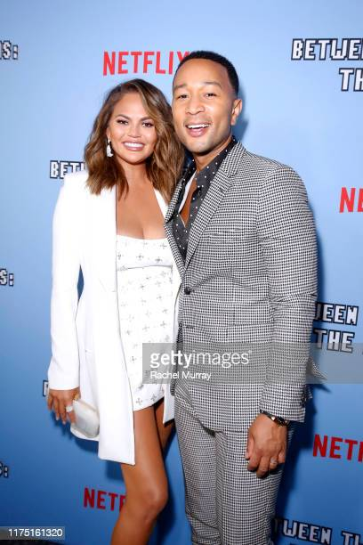 "Chrissy Teigen and John Legend attend Netflix's special screening of ""Between Two Ferns: The Movie"" on September 16, 2019 in Los Angeles, California."