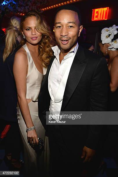 Chrissy Teigen and John Legend attend Rihanna's private Met Gala after party at Up Down on May 4 2015 in New York City