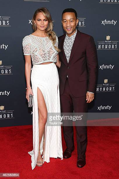 Chrissy Teigen and John Legend attend the 2015 NFL Honors at Phoenix Convention Center on January 31 2015 in Phoenix Arizona