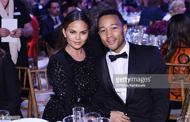 Chrissy Teigen and John Legend attend the God's Love We Deliver Golden Heart Awards on October 17 2016 in New York City