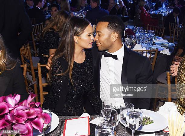 Chrissy Teigen and John Legend attend the God's Love We Deliver Golden Heart Awards on October 17 2016 in New York City