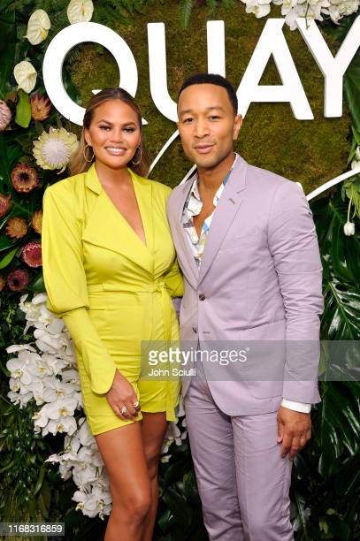 Chrissy Teigen and John Legend attend the Quay x Chrissy Teigen launch event at The London West Hollywood on August 15, 2019 in West Hollywood,...