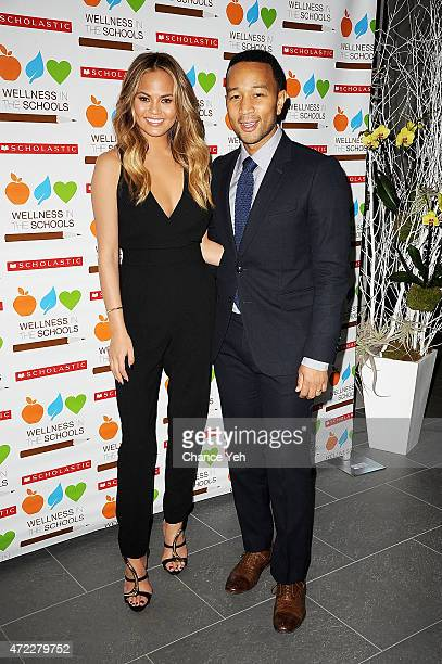Chrissy Teigen and John Legend attend Wellness In The Schools 10th Anniversary Gala at Riverpark on May 5, 2015 in New York City.