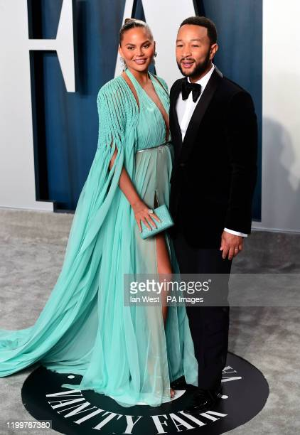 Chrissy Teigen and John Legend attending the Vanity Fair Oscar Party held at the Wallis Annenberg Center for the Performing Arts in Beverly Hills Los...