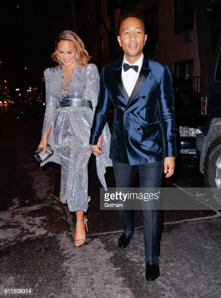 Chrissy Teigen and John Legend head to the 2017 Grammy Awards on January 28 2018 in New York City